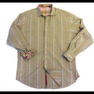 Robert Graham Mens L Dress Shirt Flip Cuff